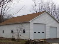 13 32x48x12 post-frame garage in Grove City, PA