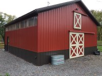 32' x 40' post-frame horse barn in  Slippery Rock, PA