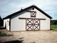 36x48x10 post-frame horse barn in Cochranton, PA