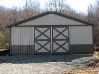 32x56x10 post-frame horse barn in Grove City, PA