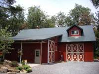 40x64x14 post-frame horse barn in Valencia, PA