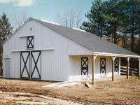 36x40x10 post-frame horse barn in Butler, PA