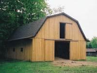 32x40x10 post-frame horse barn in Sandy Lake, PA