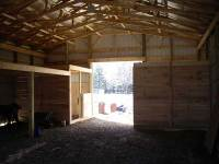 36x56x10 post-frame horse barn in Erie, PA