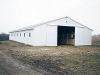 36x88x10 post-frame horse barn in Zelienople, PA