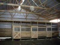 50x96x14 post-frame horse barn in Grove City, PA