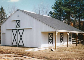 post-frame horse barns